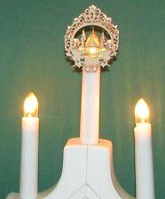 10x Set Aufstecksterne Schwibbogen filigran Stern Riffelkerze Seiffner Kirche