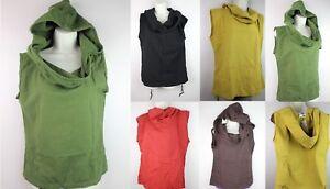 HANDMADE Casual Hoodie Sports Sleeveless Tank Top Vest Sweatshirt Stonewash CF3