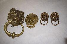 Lot of 4 Vintage Brass Lion Head Door Knockers