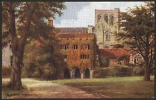 Hampshire. Winchester. The Deanery by A.R Quinton. Salmon Card #1535