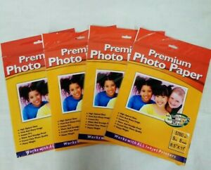 """Premium Photo Paper For Inkjet Printers Glossy 8.5"""" x 11"""" 9 mil 32 Sheets"""