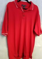 Vintage Cross Creek Mens Polo Shirt Red and White 100% Cotton Size XL Stripes