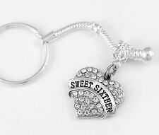 Sweet sixteen key chain sweet 16 gift teenager Present Strength sweet 16 gift
