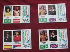 Panini World Cup 1982 WM Espana 82 lot 4 vache qui rit stickers Zico Socrates