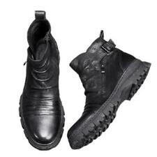 Mens Real Leather High Top Biker Ankle Boots Shoes Business Formal Cowboy Club L
