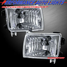 PAIR EURO CLEAR LENS HEADLIGHTS BULBS INCLUDED FOR 1998-2000 NISSAN FRONTIER