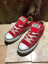 CONVERSE CHUCK TAYLOR ALL STARS  MAROON RED OX CANVAS LOW SNEAKERS M4 W6 M9696