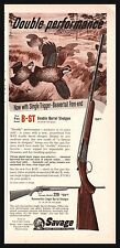 1955 SAVAGE B-ST Double Barrel Antique Shotgun AD w/ original Price