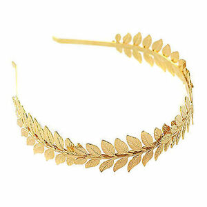Roman Goddess Leaf Branch Dainty Bridal Hair Crown Head Dress Boho Alice Band