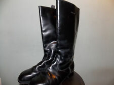 1980's Black Leather Riding Style Boots Women's Size 7 1/2 Split Sole (used)