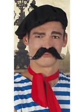 ** BLACK FRENCHMAN MOUSTACHE TASH ADULT FANCY DRESS NEW ** MENS