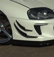 Toyota Supra mk4 Front Bumper CARBON FIBRE Canards 4pcs, fits most bumpers V6