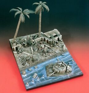"""Verlinden 1/35 """"Bloody Tarawa"""" Pacific War WWII Complete Diorama with Base 1914"""