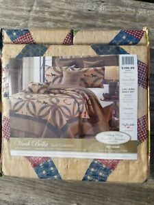HORSESHOES WEDDING RING HORSES 3 pc King QUILT SET WESTERN COWBOY PLAID COUNTRY