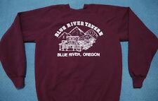 Vintage Blue River Tavern Crewneck Sweatshirt Small Oregon Souvenir Maroon