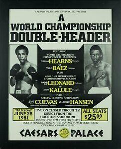 1981 Thomas Hearns vs. Pablo Baez – Sugar Ray Leonard vs. Ayub Kalule Caesars Pa