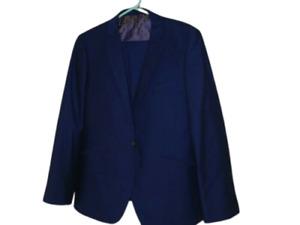 """Blue Ventiuno Suit 42S 42"""" Chest Jacket, 36"""" Waist Trousers 29.5"""" Leg Designer"""