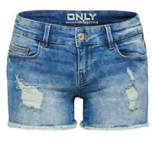 Coral superlow Destroy Denim Shorts RRP £ 24 par seulement Bnwt Taille UK 6
