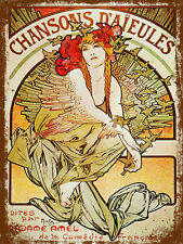 vintage retro style French poster image metal sign art tin wall door plaque