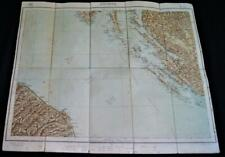MILITARY GEOGRAPHY INSTITUTE OF ITALY TOPOGRAPHIC MAP ANCONA QUADRANT 1923