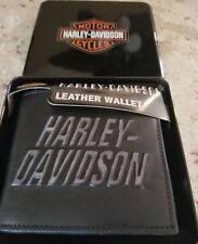 Men's Harley Davidson Bifold Wallet (Genuine Leather)
