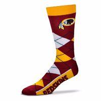 Washington Redskins NFL For Bare Feet Argyle Crew Socks One Size Fits Most