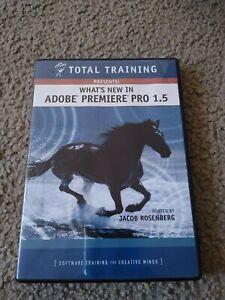 Adobe Premiere Pro 1.5 Pro total training software 2 DVDs. NWOP