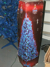 6 ft BLUE Christmas Tree with Pre-Lit Xmas Tree incl 150 blue green LED lights