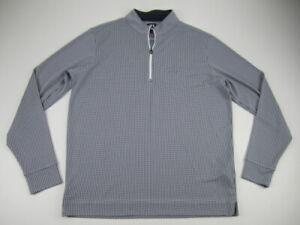Mens Large FootJoy FJ Houndstooth Jacquard Quarter Zip golf pullover Mirabel