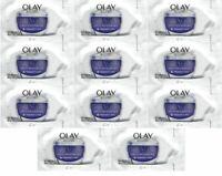 Lot of 11, Olay, Regenerist Retinol 24 Night Moisturizer, Fragrance Free, .02 OZ