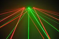 * Nouveau * * 3 Head * Trifan Laser - 2x Rouge 1x Vert Pour Disco DJ scène karaoké Pub Club