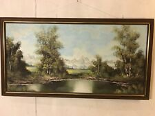 """Painting Oil On canvas 51""""X27""""signed """"Newford"""" See12pics4details&size.MAKE OFFER"""