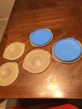 Slim Stacks Set of 5 bowls + 2 lids 3 cup, 4 cup & 5 cup Blue lids