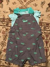 Carter's Just One You Boys 18 Months Overalls Outfit Shirt Set Dinosaur