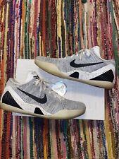 Nike Kobe IX 9 Elite Low BEETHOVEN (Nike I.D.)WHITE BLACK WOLF GREY Size 13 US