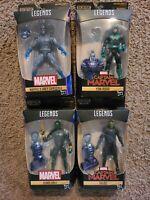 Marvel Legends Kree Sentry Lot. 4 BOXED FIGURES W BAF.