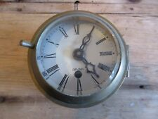 Antique 1920 Made for Royal Navy London Brass Maritime Wall Clock As Is