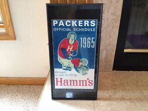 Beautiful Hamm's Beer and 1965 GREEN BAY PACKERS ARTWORK FRAMED.