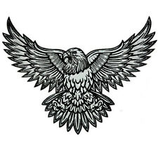 VEGASBEE® EAGLE REFLECTIVE EMBROIDERED PATCH AMERICAN SYMBOL BIKER TATTOO STYLE