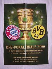 Orig.Spielposter  DFB Pokal 2015/16  FINALE   BORUSSIA DORTMUND - BAYERN MÜNCHEN