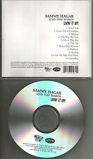 Van halen SAMMY HAGAR Livin it up ADVNCE PROMO CD w/ BOB DYLAN Remake Cover trk