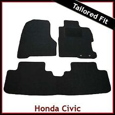 Honda Civic Mk7 5-Door 2000-2005 Tailored Carpet Car Mats BLACK