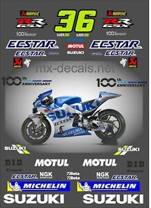 Suzuki Moto Gp 2020 Joan Mir decal set
