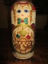 RARE 10 Piece Wooden Russian Babushka Matryoshka Doll Set from ISHKA EUC !