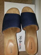 Womens denim sandals Size 8 used one time only