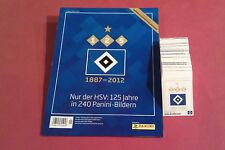 Panini Nur der HSV Hamburg 125 Jahre alle 240 Sticker komplett Album 1. Auflage