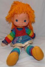 "Rainbow Brite Plush Doll 1983 Vtg Toy Hallmark 18"" Vinyl Face"