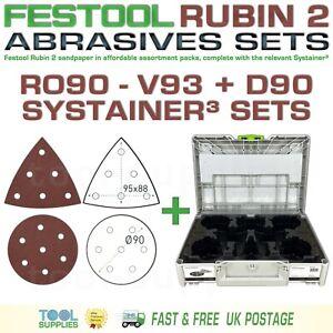 Festool RUBIN 2 ROTEX RO90DX Sandpaper Systainer³ Sets - D90 V93 93V RO 90 mm