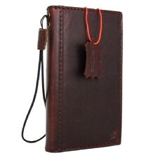 Natural Leather Case for iPhone 7 Plus Credit Cards Slots id window Slim design