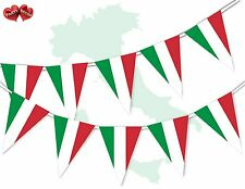 Italy Full Flag Patriotic Themed Bunting Banner 15 Triangle flags National